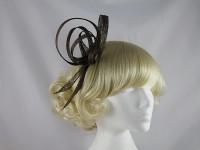 Brown Loops Fascinator